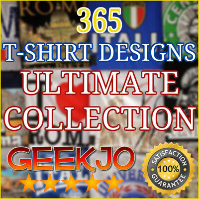 365 Editable T-Shirt Designs Ultimate Collection For Print On Demand Business