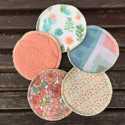 HANDMADE Reusable Washable Eco Cotton Breastpads Nursing Pads Breastfeeding