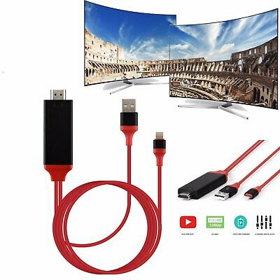 2M Apple Lightning Connect to HDMI TV AV Cable Adapter for iPad iPhone iOS 13 9
