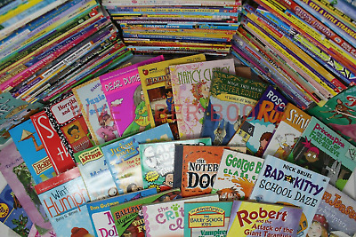Bulk/Huge Lot of 50 of Children's Kids Chapter Books  - Random - Free Shipping!
