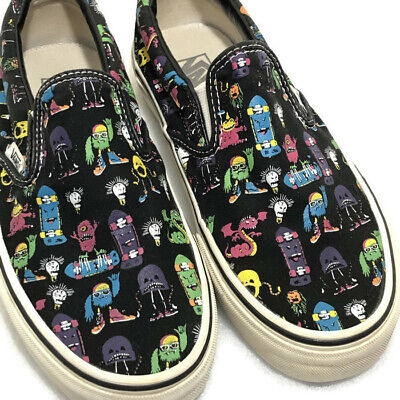 058d68f28c Vans Classic Slip on Vintage Skate Monster Print Size Mens 5 and Womens 6.5
