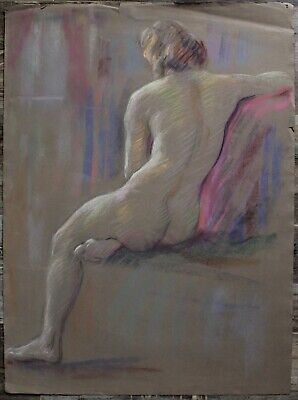 Listed Canadian Stanley Gordon Moyer (1887-1968) Drawing - Nude Female No.14