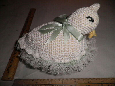 Antique Crocheted Goose-Shaped Needle Case