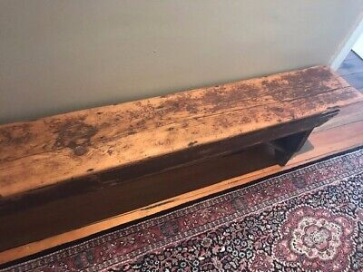 Antique Wooden Bench Seat - rustic