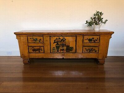 Beautifully restored Chinese antique solid wood sideboard cabinet