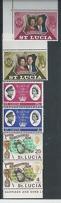 St. Lucia - 1966 to 1972 - Three different commemorative sets - Un-mounted mint