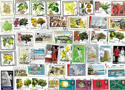 BARBADOS - Selection of Stamps on Paper from Kiloware - All Different