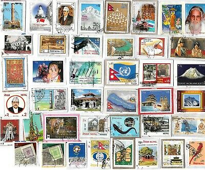 NEPAL - Selection of Stamps on Paper from Kiloware