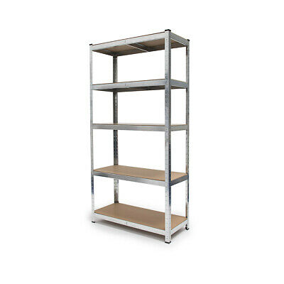 Steel Heavy Duty Shelving 5 Tier Storage Unit Racks Shelf 175 kg Total Capacity