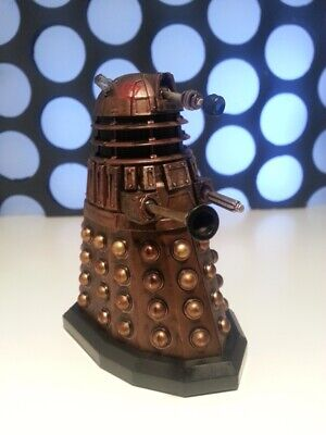 """Doctor Who 3.75"""" Gold Bronze Asylum Red Stamped Dalek Action Figure"""