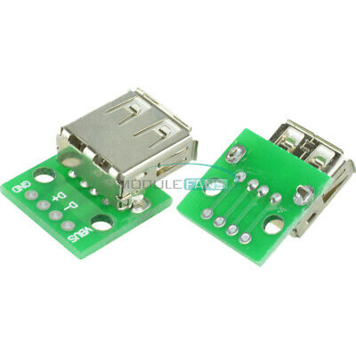 5PCS Type A Female USB To DIP 2.54MM Adapter Converter PCB Board For Arduino