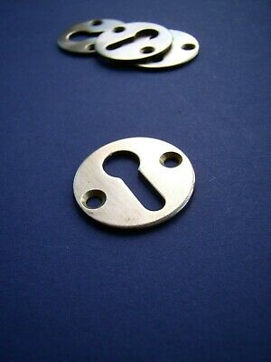 """Vintage polished brass round keyhole escutcheon 1"""" several available [SB51]"""