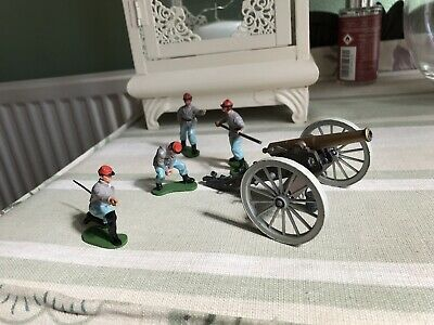 Britains Swoppet American Civil War Confederates With 12 Pounder Gun