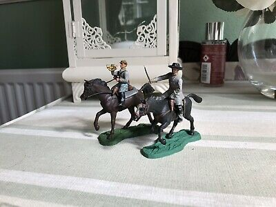 Britains Swoppet American Civil War Confederates On Horse Back