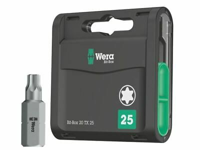 Wera WER071034 3867//1 Ts Torx TX20 Torsion Acier Inoxydable Insertion Bout 25mm