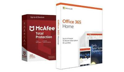 Microsoft Office 365 Home & McAfee Total Protection 6 BNIB Sealed