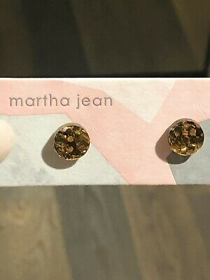 Gold Glitter Stud Earrings
