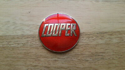 rover mini cooper john cooper red enamel badge s works mpi si sport 500 1275 998