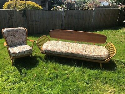 Retro Ercol Sofa/daybed/suite   Delivery Available