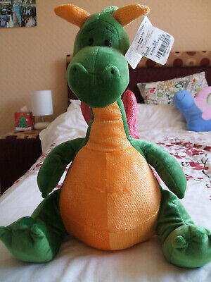 Gund Fafner, green dragon. Displayed only. With tags.