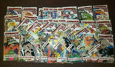 Vintage Comic Book Poly Bagged Three Pack 1980's & 1990's lot of 35 Sealed