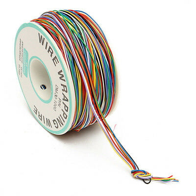 Hot 280m 30AWG Copper Wire Wrapping Cable Insulation Test Cable 8-Colored 0.25mm