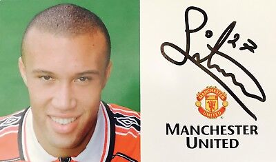 Mikael Silvestre HAND SIGNED Autograph Card Manchester United *In Person* COA