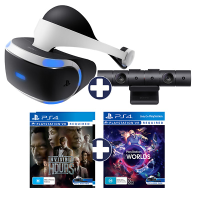 =7%OFF= Sony PlayStation VR PSVR V2 + PS4 Camera + Worlds + Invisible Hours VR