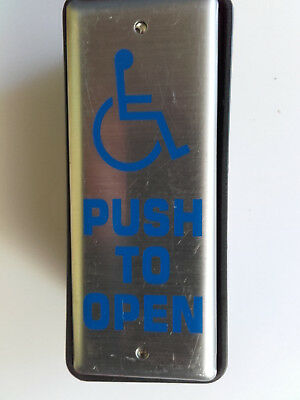 Push Press To Open Switch Disabled Access Control Wheelchair Signed