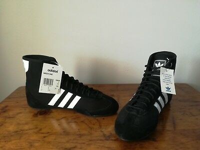 new styles 63f14 e3a46 BNIB Adidas Canvas wrestling shoes Lifestyle US 8 1 2 NO boxing boots  freistil