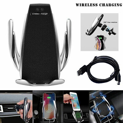 QI Wireless Car Charger Automatic Clamping Charging Mount Air Vent Phone Holder