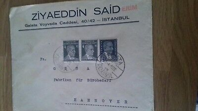 Turkey  To Germany Cover 1936 Stamps £3.99  Post Free Worldwide
