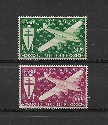 GUADELOUPE 1945. Série complète 2  timbres neufs**. Air Mail  (5363)