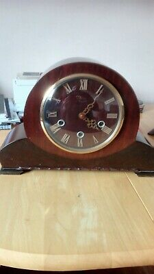 Vintage art deco Smiths Oak Mantel Clock