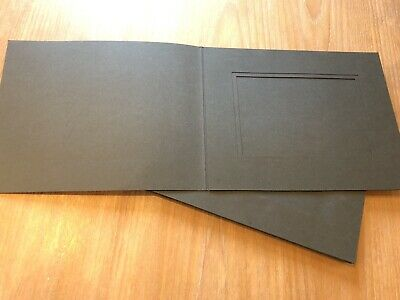"7 x Spicer Hallfield Black Slip-In Photograph Mounts/Folders 5"" x 7"" Landscape"