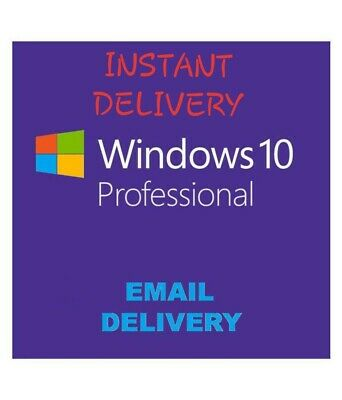 Genuine  Windows 10 Pro Professional 32/ 64bit Genuine License Key Product Code