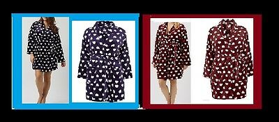 BNWT New Look HEARTS Fluffy SOFT Dressing Gown PLUS SIZE 16 18 20 CURVE