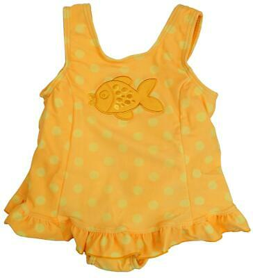 Girls Baby Swimming Costume Goldfish Polka Toddler Swim 3 Months to 1.5 Years