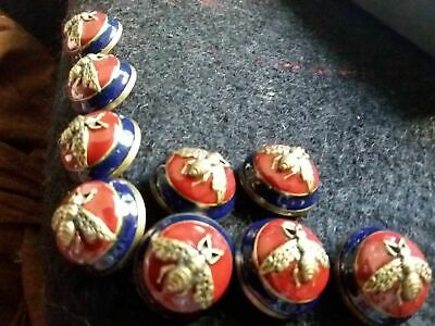 ❤100% Authentic GUCCI buttons Large 1 inch 24 mm  6  pieces  BEE