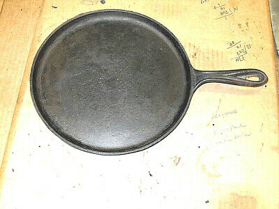 Antique Cast Iron Shallow Skillet Griddle Fry Pan w/ Gate Mark / Heat Ring