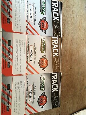 Nascar Coca Cola 600 Pit Road Access Pass 3 Tickets May 25-26 2019