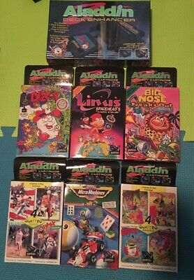 Aladdin Deck Enhancer With All 7 Games! Brand New! For The Nintendo NES Dizzy