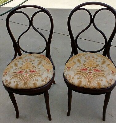 2 Rare Thonet Model #1 Bentwood Chairs