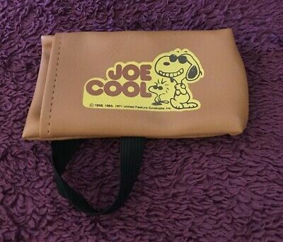 60f3c41340 Vintage 1971 Joe Cool Glasses Case With Strap Pouch Sun Snoopy Peanuts  Woodstock