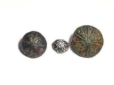 Collection Viking  Silver   buttons  enamel 9-11 century.