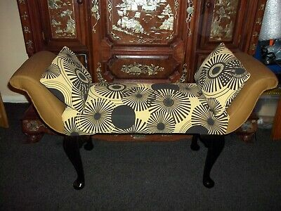 Large Retro Stool Chaise With Matching Cushions