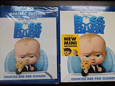 The Boss Baby [Blu-ray+DVD+Digital] BRAND NEW!! W/SLIPCOVER!!