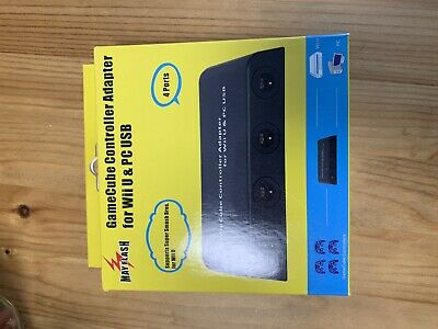 MAYFLASH GameCube Controller Adapter for Wii U and PC USB 4 Port