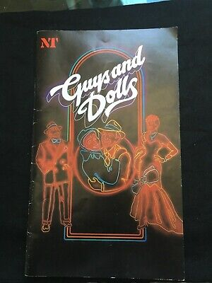 Theatre Programme Guys and Dolls National Theatre London 1982