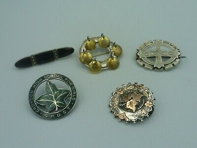 Collection of Vintage / Antique Sterling silver brooch's. Norwegian / English